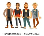 men different clothes man... | Shutterstock .eps vector #696950263