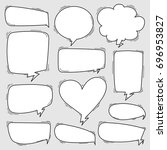 set of sketchy hand drawn... | Shutterstock .eps vector #696953827
