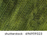 Green Leather Snake Textured...