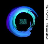 neon paint abstract round.... | Shutterstock .eps vector #696973753