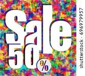 pixel background  special offer ... | Shutterstock .eps vector #696979957