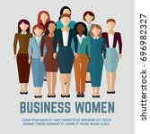 business women of  community... | Shutterstock .eps vector #696982327