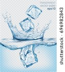 transparent vector water splash ... | Shutterstock .eps vector #696982843