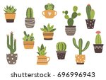 vector hand drawn isolated... | Shutterstock .eps vector #696996943