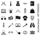 wrongdoing icons set. simple... | Shutterstock .eps vector #697000033