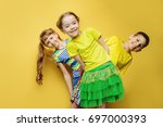 happy joyful children having... | Shutterstock . vector #697000393