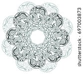 template for tattoo design or...   Shutterstock .eps vector #697003873