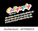 vector of modern calligraphic... | Shutterstock .eps vector #697008313