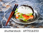 homemade asian style gluten... | Shutterstock . vector #697016353