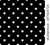 hearts pattern the background... | Shutterstock .eps vector #697024723