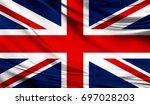 Flag Of United Kingdom  3d...