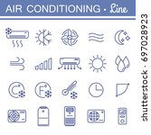 set of air conditioning vector... | Shutterstock .eps vector #697028923