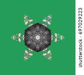 zentangle winter snowflake for...   Shutterstock .eps vector #697029223