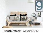 modern stylish scandinavian... | Shutterstock . vector #697043047