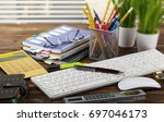 business accounting | Shutterstock . vector #697046173