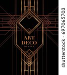the great gatsby deco style... | Shutterstock .eps vector #697065703