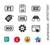language icons. fi  dk  se and...