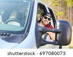 Handsome Happy Men Driver With...