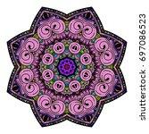 oriental stylized ornament...   Shutterstock .eps vector #697086523