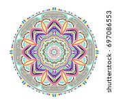 oriental beautiful female...   Shutterstock .eps vector #697086553