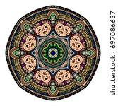 oriental stylized ornament...   Shutterstock .eps vector #697086637