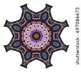 oriental stylized ornament...   Shutterstock .eps vector #697086673