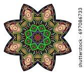 oriental stylized ornament...   Shutterstock .eps vector #697086733