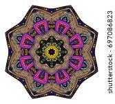 oriental stylized ornament...   Shutterstock .eps vector #697086823