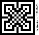 illusive tile with black white... | Shutterstock .eps vector #697092883