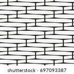vector seamless pattern. modern ... | Shutterstock .eps vector #697093387