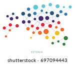 dotted texture estonia vector... | Shutterstock .eps vector #697094443