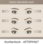 different eyebrow shapes... | Shutterstock .eps vector #697094467