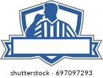 illustration of a referee...   Shutterstock .eps vector #697097293