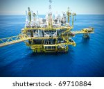 rigs offshore oil refinery | Shutterstock . vector #69710884