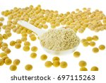 protein   soy protein and... | Shutterstock . vector #697115263