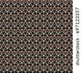 seamless linear geometric... | Shutterstock .eps vector #697123357
