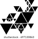 vector hipster triangle... | Shutterstock .eps vector #697130863