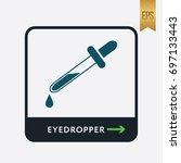 eyedropper icon. medicine... | Shutterstock .eps vector #697133443