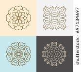modern stylish organic logo... | Shutterstock .eps vector #697134697