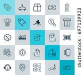 e commerce icons set.... | Shutterstock .eps vector #697139923