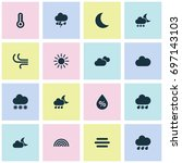 air icons set. collection of... | Shutterstock .eps vector #697143103