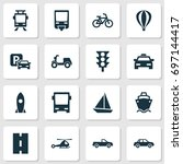 shipment icons set. collection... | Shutterstock .eps vector #697144417