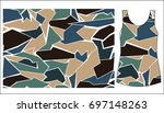 camouflage with geometry.... | Shutterstock .eps vector #697148263