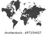 high resolution map of the... | Shutterstock .eps vector #697154437