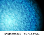 abstract bright blue technology ... | Shutterstock .eps vector #697165933