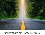 the pathway to success concept. | Shutterstock . vector #697167637
