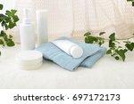 skin care basic cosmetics | Shutterstock . vector #697172173