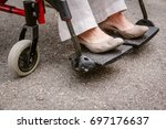 senior woman in wheelchair | Shutterstock . vector #697176637