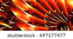 fiery glowing stained glass ... | Shutterstock . vector #697177477