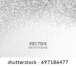 falling glitter confetti.... | Shutterstock .eps vector #697186477